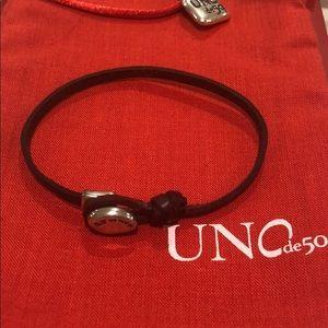 Uno de 50 leather bracelet
